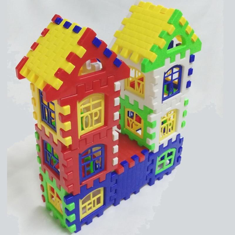 Bērnu bērnu nama apbūves bloki Izglītības mācību būvniecības attīstības rotaļlietu komplekts Brain Game