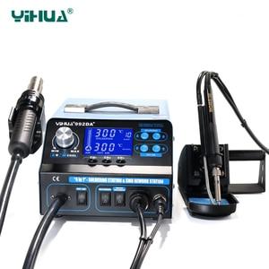 Image 3 - YIHUA 992DA + LCD stacja lutownicza z palenia lutowane żelazo próżniowe długopis BGA stacja lutownicza na gorące powietrze suszarki spawania stacja