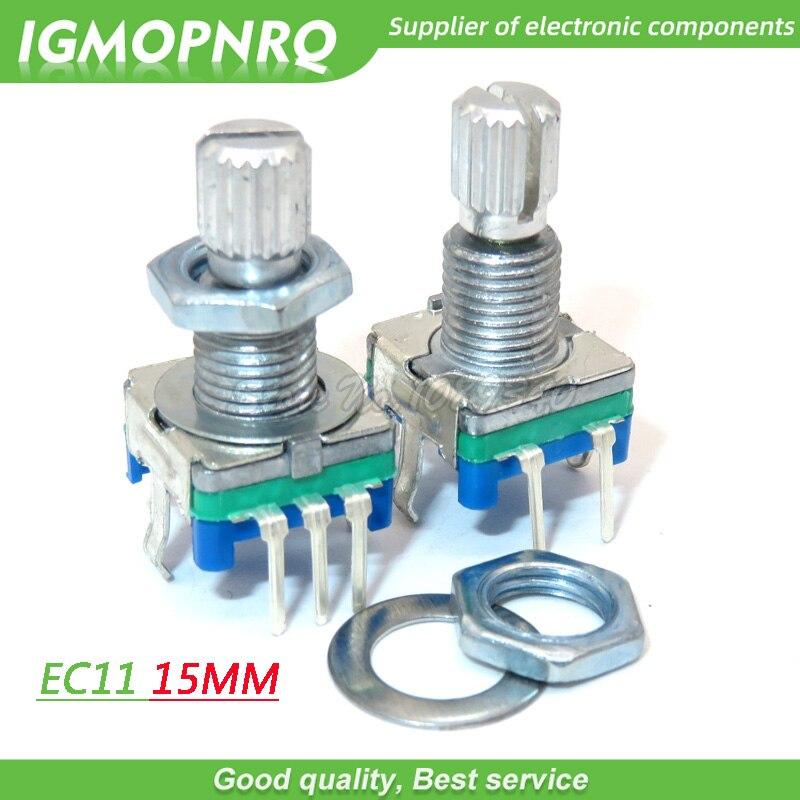 5 pièces EC11 15mm prune poignée codeur rotatif commutateur de codage potentiomètre numérique commutateur 5 broches bricolage IGMOPNRQ