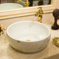 Chinese style above counter basin ceramic art basin shape bathroom wash basin wash basin LO621248