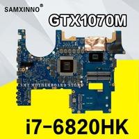 Рог G752VS материнская плата для ноутбука ASUS G752VS G752V G752 тестирует Оригинал материнская плата I7 6820HK GTX1070 8G