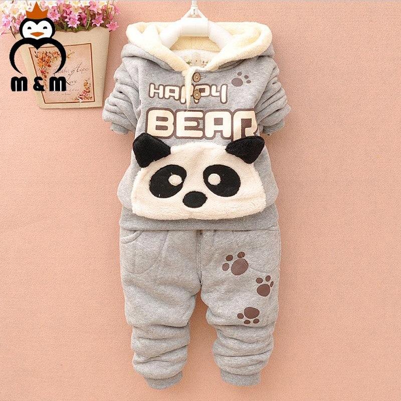 d9f4b7ec1 2018 Baby Clothing Set Cartoon Panda Pattern Kids Apparel Boys Girls ...