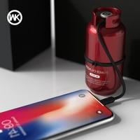 WK DESIGN Portable Power Bank 10000mAh USB Powerbank External Charger Battery Pack for iPhone X Samsung Note 8 Bateria Externa