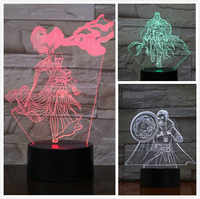 Usb 3d led night light Marvel The Avengers super heroe Doctor Strange Figure 3D Illusion Ancient One RGB table lamp bedroom neon