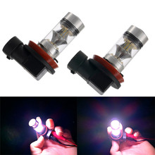 Tiptop 2PC 100W H8 H11 LED High Power Front Fog Lamps Bulbs White Light Car Styling Free Shipping Retail&Wholesale
