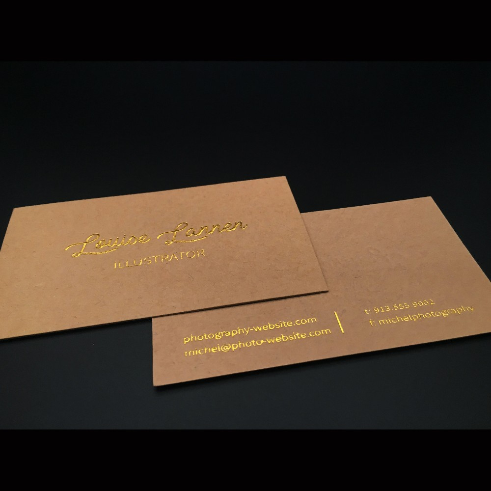 US $75 0 | Luxury Duplex Black And White Gold Foil Business Card With Gold  & Black Foil Stamp (Name Card Design & Printing)-in Business Cards from