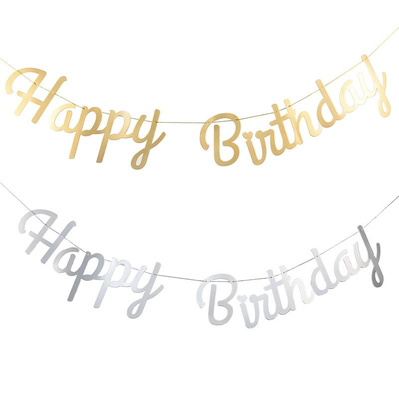 Glücklich Geburtstag Bunting Banner Gold Splitter Buchstaben Glücklich Geburtstag Girlanden String Baby Dusche Junge Mädchen Geburtstag Party Dekoration