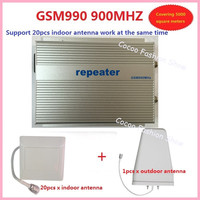 Sunhans 3w GSM990 GSM 900Mhz mobile cell phone signal booster repeater amplifier coverage 2000square +20pc antenna