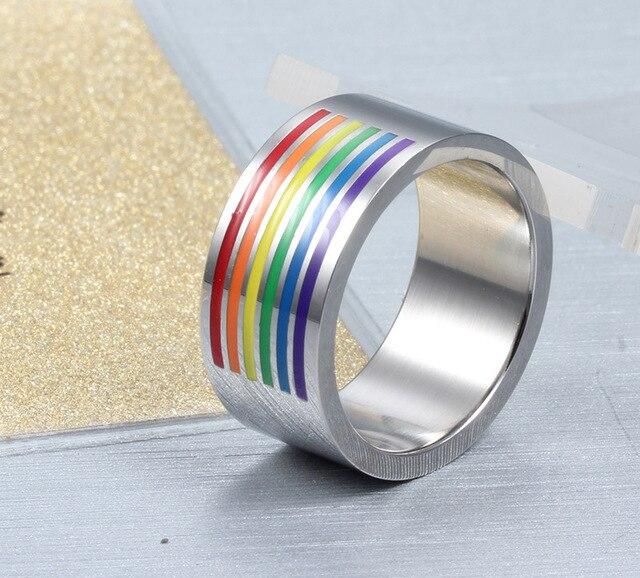 Multicolor Titanium Steel Ring