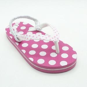 Image 2 - 2020 yaz çocuk Flip flop pembe nokta Antiskid sandalet yumuşak rahat erkek kız terlik plaj çocuk ayakkabı