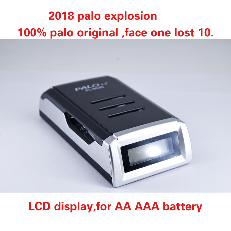 PALO NC05 4 independent charging slots smart chip LCD charger for 1-4 units AA / AAA NiCd NiMH batteries EU plug c905w