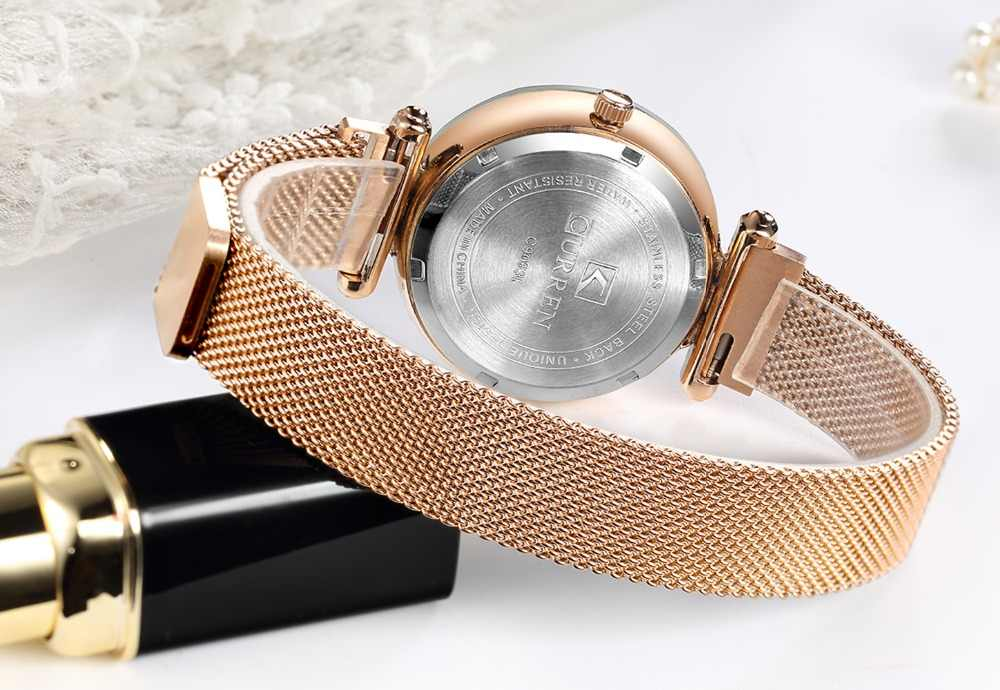 יוקרה רוז זהב נשים שעונים מינימליזם שמי זרועי הכוכבים מגנט אבזם אופנה מזדמן נקבה שעוני יד עמיד למים רומי ספרה
