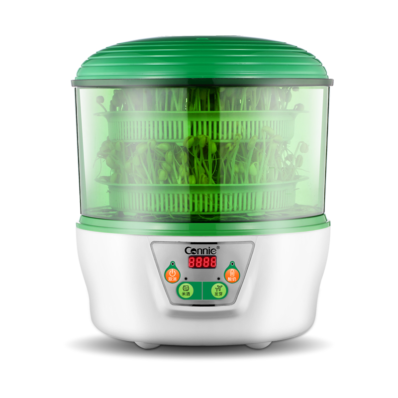 Double Layer Microcomputer Full Automatic High Capacity Household Intelligent Multifunctional Making Yogurt Bean Sprouts Machine bear three layers of bean sprouts machine intelligent bean sprout tooth machine dyj b03t1