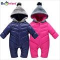 Bebé de invierno con capucha outwear traje para la nieve caliente de espesor parkas ropa para niño recién nacido del bebé capa de las muchachas de navidad clothing nuevo 2017