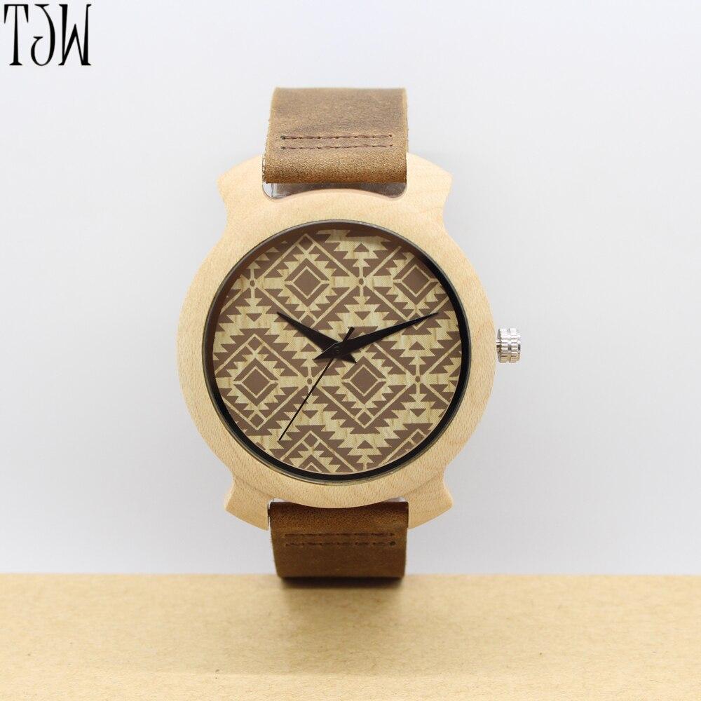 Handmade  wooden watch ,engraved bamboo wooden watch for men  2017 NEW