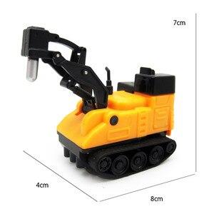 Image 3 - Gorące pojazdy inżynieryjne Mini magiczna zabawka ciężarówka dziecięca indukcyjna zabawki ciężarówki rysunek cysterna pióro rysuj linie indukcyjny wagon kolejowy