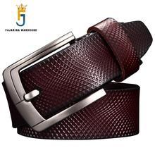 FAJARINA Mens Quality Plaid Pattern Genuine Leather Belt Casual Styles Design Cowhide Belts for Men FashionAccessories N17FJ581