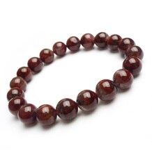 цена Genuine Natural Auralite 23 Canada Round Beads Bracelet Crystal Red Purple Women Men 10mm Stone Rarest Bracelet Jewelry AAAAA онлайн в 2017 году