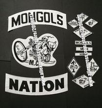 Patchs de mongolie pour motard, étiquette en fer, pour veste de motard, vêtements, badges de cavalier, avec des applications MFFM, 13 pièces/ensemble