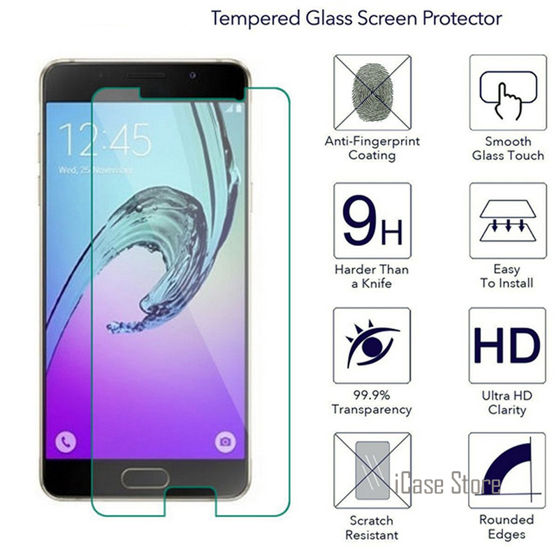 9H Tempered <font><b>Glass</b></font> Screen Protector For <font><b>Samsung</b></font> Galaxy A5 A7 A3 2017 protective <font><b>glass</b></font> on A 3 5 7 A720 <font><b>A520</b></font> A320 Film image