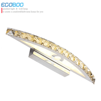 EGOBOO 10W Waterproof LED Bathroom lighting nice Crystal Wall Light Mirror Lights 44cm long decorative for home