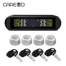 CAREUD Wireless External Built-In Tire Pressure Sensor USB Charging Solar Panel Self-Changing TPMS Tire Pressure Monitor System