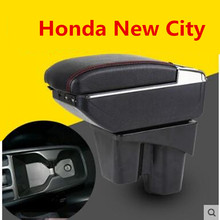 Для Honda новый городской подлокотник коробка центральный магазин содержание коробка для хранения с подстаканником пепельница USB интерфейс товары 2015-2017