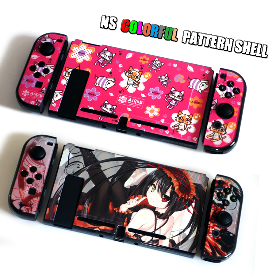 Nintend Switch NS Pattern Case Nintendos Switch Protective Hard Cover Shell Skin for Nintendo Switch Console 3