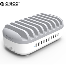 ORICO DUK-10P 10 Ports Multi 120W 5V2.4A*10 USB Charger Station Dock with Holder for Phone Tablet PC