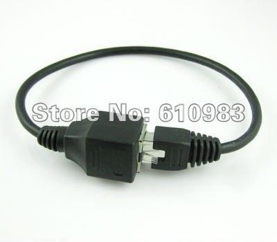 5 шт./лот) Ethernet LAN RJ45 сетевой разъем со штекера на гнездо на обоих концах для подключения внешних устройств к Соединительный кабель 30 см
