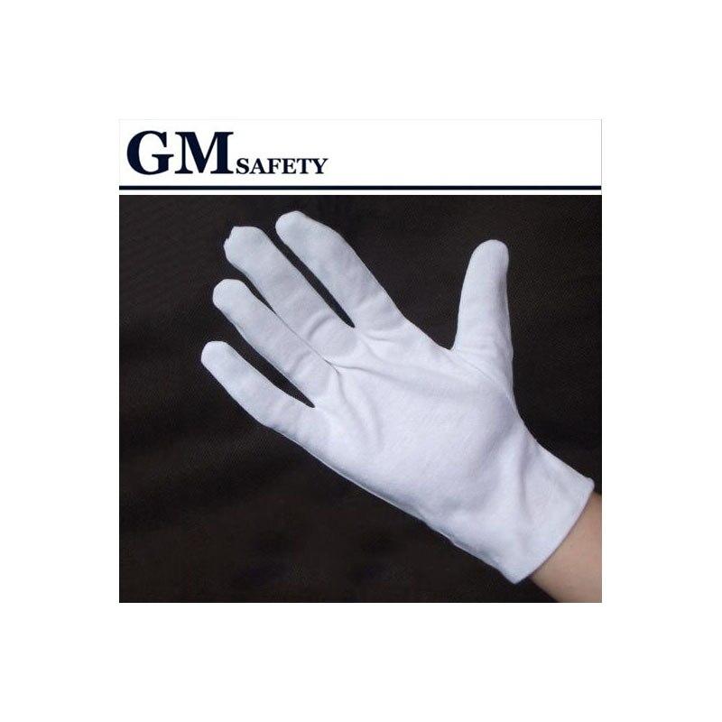 100% cotton gloves liturgy white gloves vigogne gloves cotton jersey work gloves hands protector G0402 1 double cotton gloves white green