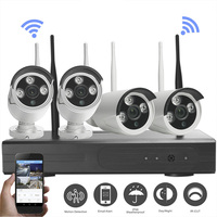 4CH Array HD Home WiFi Wireless Security Camera System DVR Kit 960P CCTV WIFI Outdoor Full HD NVR Surveillance wifi camera Kit