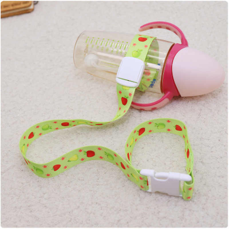 Baby Bottle Strap Holder Stroller Toys Rope Teether Pacifiers Toys Cups Anti-lost Strap Stroller Accessories Slip-Resistant Belt