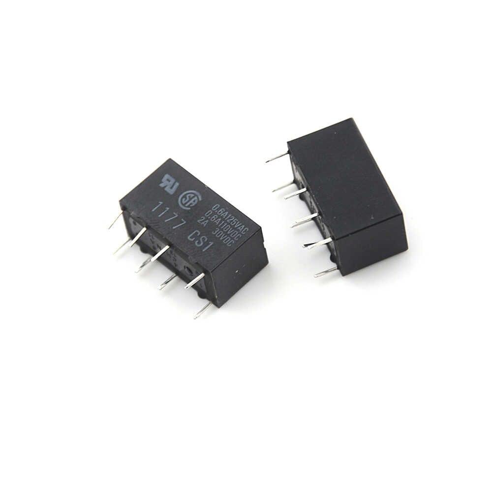 5 Pcs/lot couleur noire G5V-2 DC 12 V 2A DPDT 8Pin PCB montage relais de Signal à faible coût