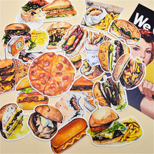 25pcs Self-made Hamburg Potato Pizza Food Sticker Handbook Cute Literature and Art Fresh Diary Decorative