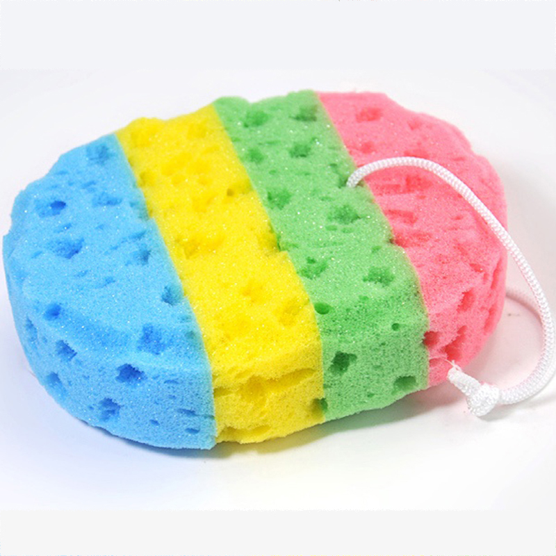 Four dimensional oval seaweed bath sponge bath Brushes Sponges & Scrubbers 16*13cm