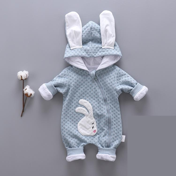 Winter Infant Clothing Long Sleeve Baby Boys Rompers Animals Rabbit Baby Girls Knitting Kids Clothes Children Jumpsuit 4rr168 2017 baby boys girls long sleeve winter rompers thicken warm baby winter clothes roupa infantil boys girls outfits cc456 cgr1