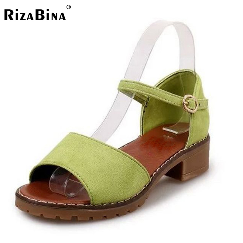 Fashion Low Heel Flat Ladies Sandals Artificial Leather