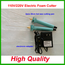 Hot Knife Styrofoam Cutter 2Pcs 20CM Pen CUTS FOAM KT Board WAX Cutting Machine Electronic Voltage Transformer Adaptor Eu Plug