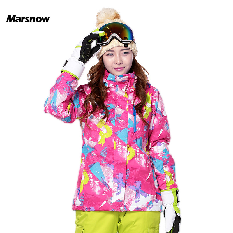 Marsnow Skiing Snowboarding Winter Jackets Women Snow Jacket Outddor Warm Waterproof Windproof Breathable Lady Ski Jackets Wear dropshipping 2015 rossignol winter snowboarding jacket ski snow jacket women waterproof breathable windproof skiing jackets
