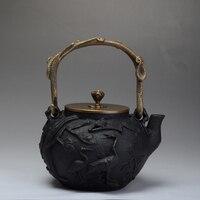 Genuine Japanese Cast Iron Teapot Set Tea Pot Tetsubin Kettle Drinkware 1300ml Kung Fu Infusers With Metal Net Filter Teakettle