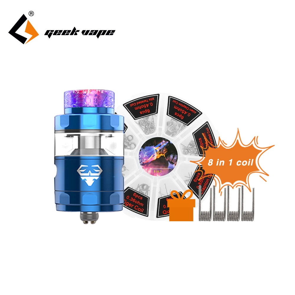 цена на Vape GeekVape Blitzen RTA Atomizer 2ml/5ml Tank Capacity Leak-proof Design Single and Dual Coil Build Easy Building Vs Ammit 25