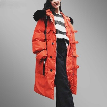 Women Winter Down cotton jacket Parkas 2018 Hooded  Plus Size Thicken Warm Wadded Long Coat Female Loose mujer invierno LS03