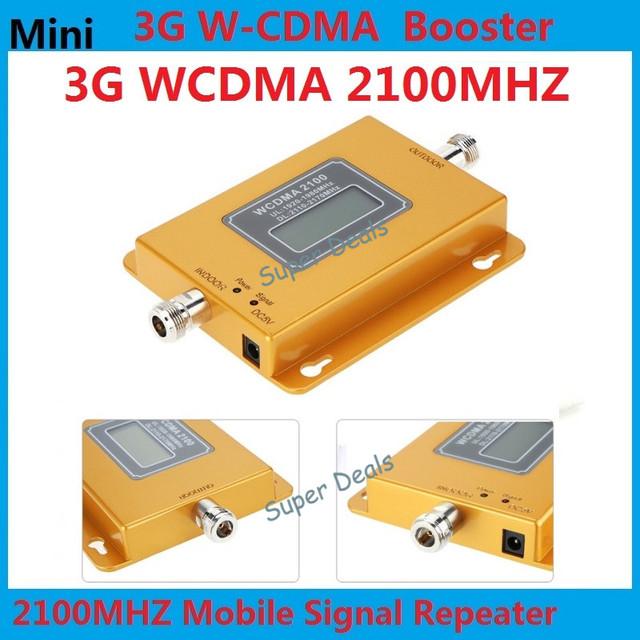 Pantalla LCD Mini 70db 3G LTE WCDMA UMTS 2100 Mhz 3G Repetidor Del Teléfono Móvil 3G Amplificador de Señal WCDMA Repetidor de Señal Del Amplificador