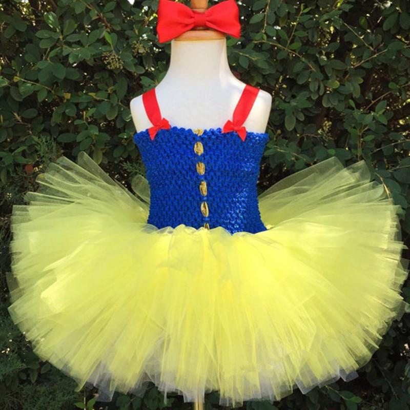 Snow White Girls Dresses Snow White KidsTutu Dress Red Yellow Royal Blue White Gold Snow White Costume Party Theme snow w15082122494