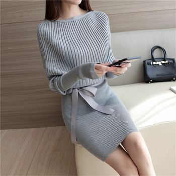 2017 Spring and Autumn New Women Korean ladies loose sweater  Stretch Skirt