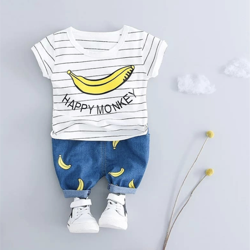 2018 Summer Children Clothing Baby Boys Outfit Baby Boy Clothes Set Casual Suits Baby Clothing Children Suits Toddler Kids Cloth