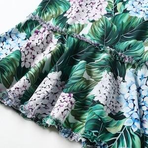 Image 5 - 2017 滑走路デザイナーの女性のセクシーな v ネックの花プリントシースボディコンセクシーなマーメイドカジュアルドレス vestidos
