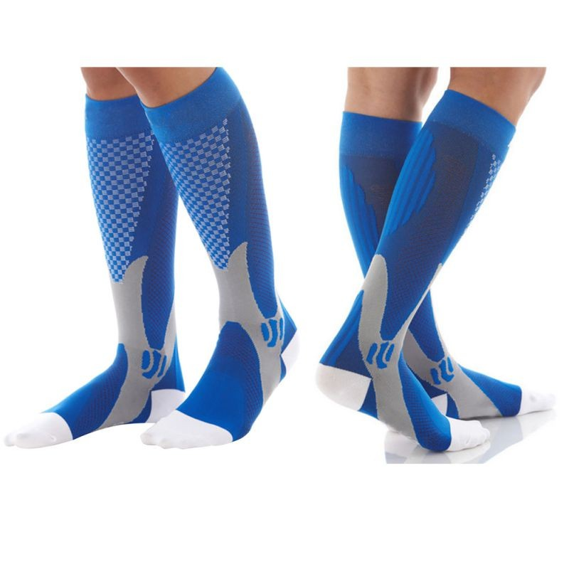 HTB1 ELTXRGE3KVjSZFhq6AkaFXad - Men Women Leg Support Stretch Compression Socks Below Knee Socks