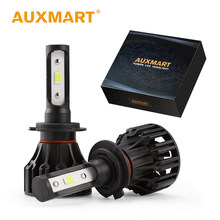 Auxmart Car Headlight H7 H4 H11 LED Bulb H1 HB3 9005 HB4 9006 H3 LED Lamp Auto 72W 8000lm LED Headlamp Kit Car Light H 11 4 7(China)
